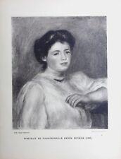 Pierre Auguste Renoir Heliogravure Limited Portrait de Mademoiselle Renee 1921