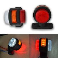 8 x 12V 24V LED Front Side Marker Lights Rear Outline Lamps with Rubber Arm WHITE ORANGE RED Waterproof E-Marked