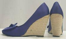 ladies womens REDHERRING @ DEBENHAMS purple wedges bow shoes Size 7 EU 41