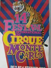 Affiche Cirque / 14ème Festival international du cirque /  MONTE-CARLO 1989