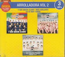 CD - La Arrolladora NEW Vol. 2 / 3 CD's Oferta Mas Adelante FAST SHIPPING !