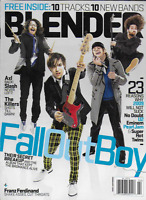 Blender Music Magazine Fall Out Boy Axl Guns N Roses The Killers Franz Ferdinand
