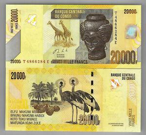 Congo Nieuw 20000 francs 2020 !! UNC P104 c  NIEUW 2020 !!!!! nieuw 2020 !!! UNC
