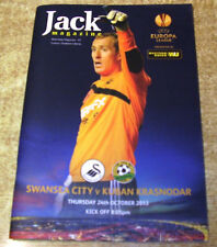 Teams S-Z Swansea City Football Programmes with Match Ticket