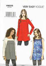 VOGUE SEWING PATTERN 9225 MISSES 14-22 EASY PULLOVER TUNICS - SHAPED UPPER FRONT