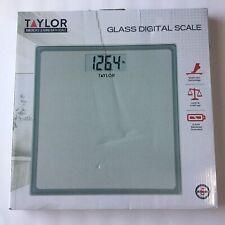 Taylor Precision Products Glass Digital Bath Scale (Grey/Blue) 7558