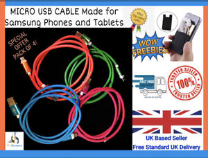 For Samsung 1M Fast Charger Micro USB Data Cable Lead Charging S4 S5 S6 Lot UK