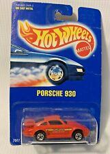 Vintage Porsche 930 Hot Wheels Early Blue Card Blackwalls #148 Mint in blister