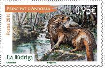 andorra es france 2018 andorre LLudriga loutre nutria otter lontra animal 1v mnh