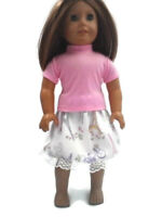 Pink T-Shirt Paris Skirt fits American Girl dolls 18 inch Doll Clothes