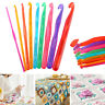 9Pcs Crochet Hooks Knit Needles Set Weave Craft Plastic Tools 3-12mm Multi-color