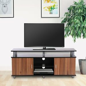 Particle Board TV Stand Media Centre Unit Wood Tone