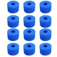 12PCS Esponja de Espuma de Piscina para Intex S1 Reutilizable Lavable Biofo U3J7