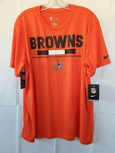 Cleveland Browns Official Tee-Shirt Women's Orange Dri-Fit XL New With Tags💖