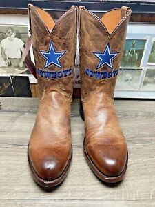 NEW LUCCHESE 1883 12D MAD DOG GOAT DALLAS COWBOY ROPERS MENS COWBOY BOOTS