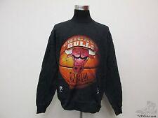 Vtg 90s Nutmeg Chicago Bulls Crewneck Sweatshirt sz L Large Jordan Pippen Rose