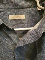 Ermenegildo Zegna Mens Blue Long Sleeve Shirt Button Down Size XXL