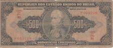 BRAZIL BANKNOTE P# 148  500 CRUZEIROS  HAND SIGNED GOOD VERY GOOD  USA SELLER