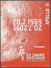 """2019 """"Austria"""" Space, Apollo 11, Moonlanding, Colour Print Sheet VFMNH! RARE!"""