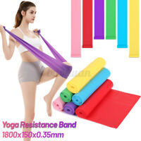 Elastic Yoga Pilates Physio Gym Exercise Resistance Bands Straps Fitness 1.8M