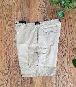 Eddie Bauer Fishing Hiking Outdoor Nylon/Cotton Shorts Men's Size L Khaki EUC