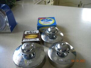 """Lot of 3  Pampered Chef CUT-n- SEAL - 3 1/2"""" & 4"""" & 2 packs canning lids"""