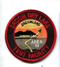 AREA 51 GROOM DRY LAKE TEST FACILITY Dreamland Nevada USAF Base Squadron Patch