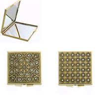 Damascene Gold Compact Mirror Geometric Design by Midas of Toledo Spain 8550