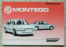 MG MONTEGO Car Instructions Handbook April 1988 #AKM 5436 (7th EDITION)