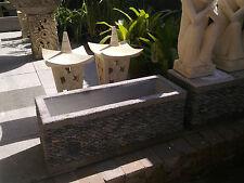 Balinese Pebble Pot Planter Concrete - 30cm width x 80 cm length x 30cm depth