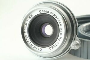 [ Near MINT ] CANON LENS 28mm F/3.5 Leica Screw Mount L39 LTM From JAPAN
