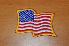 "WAVY AMERICAN FLAG PATCH 3"" x 2-1/4"""