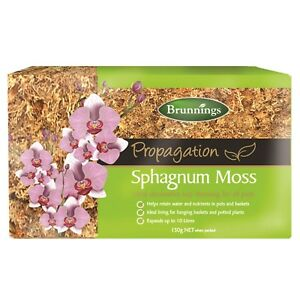 Sphagnum Moss 150g Brunnings 10L Pots Planters Tubs Water Retention Elk Horns