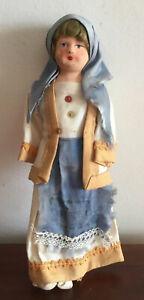 Beautiful Vintage Female Greek Doll Celluloid & Cloth