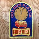 NEW Golden Fleece Clock Motor Oil Spirit tin metal sign H C Sleigh