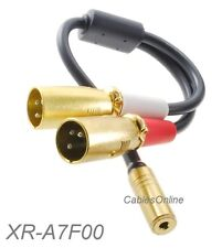 8in 3.5mm TRS Stereo Female to 2-XLR 3-Pin Male Pro Camcorder Microphone Adapter