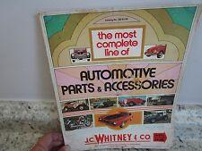 J.C. Whitney & Co Catalog #292 1971 Car Auto Parts & Accessories Book