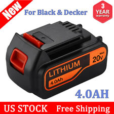 For Black & Decker 20V Lithium-Ion 4.0Ah Battery LB2X4020-OPE LBXR20 LB20 LBX20