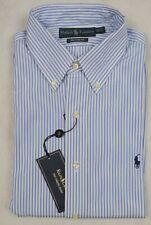 Ralph Lauren Shirt Dress Button-Front Custom Fit Stripe Large 16 34/35 NWT