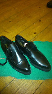 MARLOWS MONARCH VINTAGE RARE LEATHER  GIBSON CREPE CREEPERS SHOE UK 11 NEW