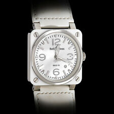 Bell and Ross BR03-92 White Ceramic Bezel MOP Dial Unisex Automatic Steel