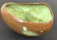 Vintage MCM Frankoma Pottery Freeform Planter 234 Prairie Green Brown Green Bowl
