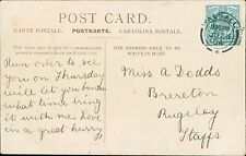 Miss A Dodds. Brereton, Rugeley, Staffordshire 1904 - Walsall     JD1071