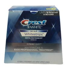 Crest 3D White Whitestrips Supreme FlexFit Whitening Kit 42 Strips Exp—11/2020