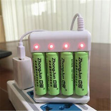 4 Slots USB Battery Charger For AA/AAA  Li-ion NiMh NiCd Rechargeable Batteries