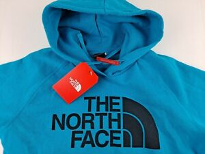 THE NORTH FACE Half Dome Logo Hoodie Women M Blue Standard Fit Classic FLAWED K