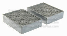 """1 1/2"""" Tall Solid Rubber Stack Blocks for Any Auto Lift or Rolling Jack/Set of 2"""