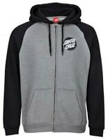 SANTA CRUZ OTHER DOT ZIP HOODY BLACK / DARK HEATHER