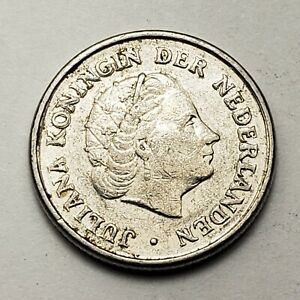 1971 Netherlands 10 Cents - Queen Juliana, KM# 182