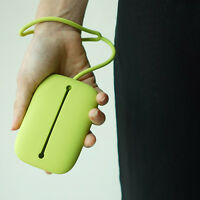 Key Chain Hasp Style Silicone Pouch Card Bag Case Key Holder Hot Sale